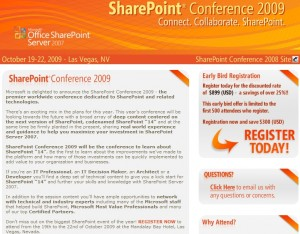 SharePoint Conference 2009